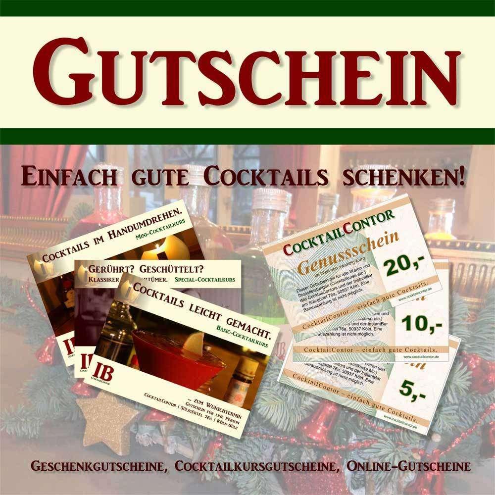3b6c50ee73 Geschenkgutschein - Cocktailkurs, Cocktail-Premix, Cocktailzubehör